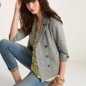 Cabi Gray Jacket with Nautical Buttons XS
